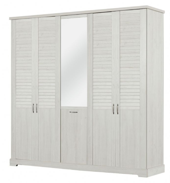 Thelma Wardrobe, 5 Doors White